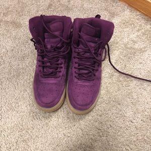 Nikes purple suede
